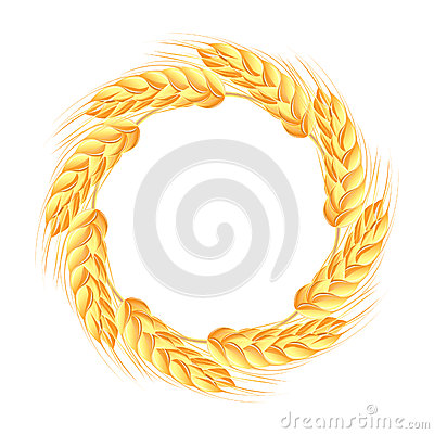 Free Wreath Of Wheat Ears Royalty Free Stock Photos - 26199388