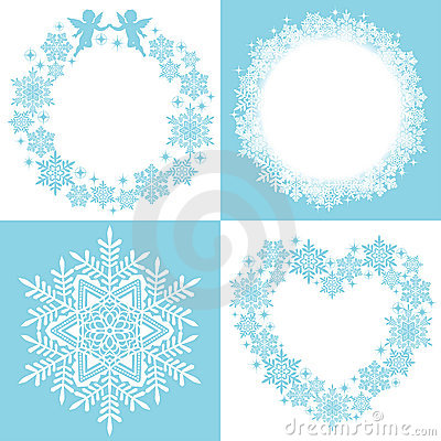 Wreath of snow crystal