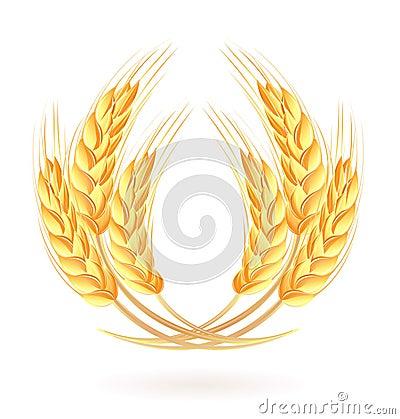 Wreath of wheat ears