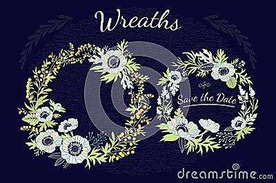 Wreaths floral. Vector Illustration