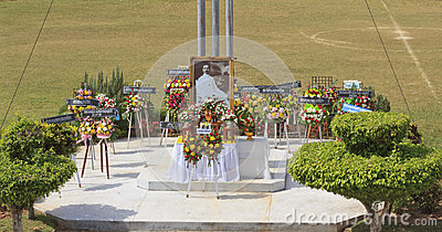 Wreaths lay on Rapee Day Editorial Stock Photo