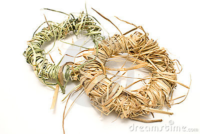Wreaths made of straw