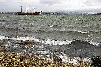 Wreck of Lady Elizabeth - Falklands
