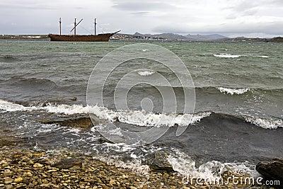 Wreck of Lady Elizabeth - Falklands