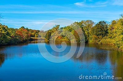 Wreck Pond in Spring Lake Heights Stock Photo