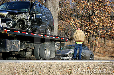 Wreck SUV Sedan Tow Truck