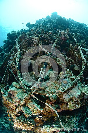 Wreckage from a the Lara shipwreck