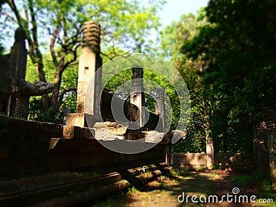 Wrecks of Xiang hall, Ming Xiaoling Mausoleum.