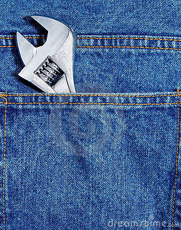 Wrench in jean pocket