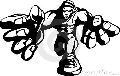 Wrestler Cartoon Shadow Image