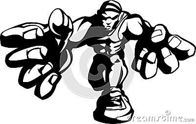 Wrestler Cartoon Shadow Image