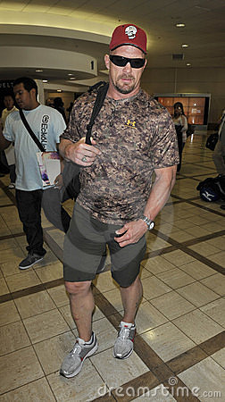 Wrestler Stone Cold Steve Austin at LAX airport Editorial Photo