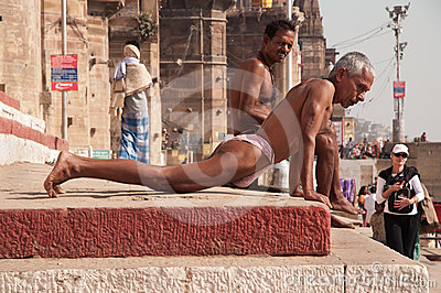 Wrestlers workout in India Editorial Photo