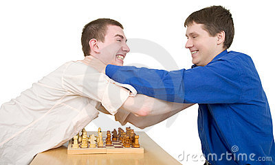 Wrestling boys ang chess