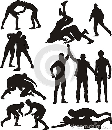 Free Wrestling Silhouettes Stock Images - 30499194