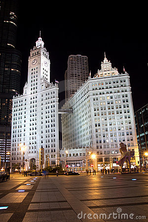 Wrigley Building Editorial Photography