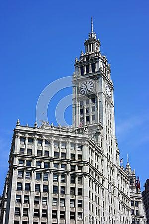 Wrigley building clock tower
