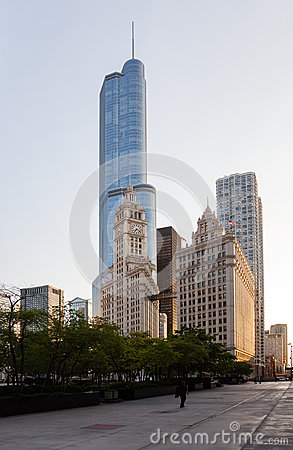 Wrigley building and Trump tower Chicago Editorial Photography