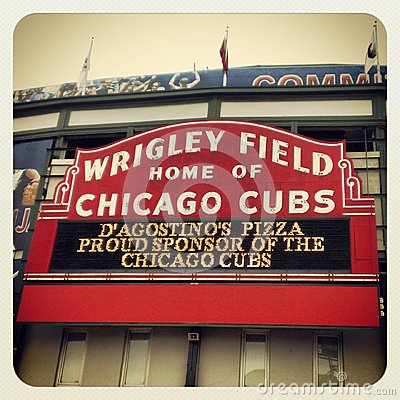 Wrigley Field Chicago Cubs Editorial Photo