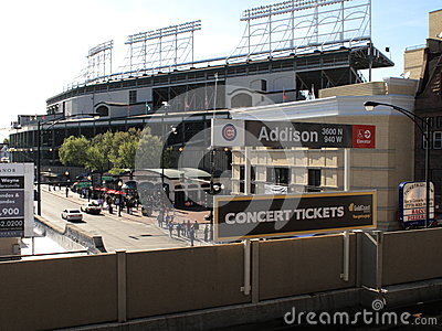 Wrigley Field CTA Station, Chicago Cubs Editorial Photography