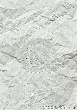 Wrinkled blank paper