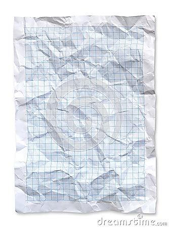 Wrinkled Blue graph paper
