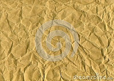 Wrinkled brown paper