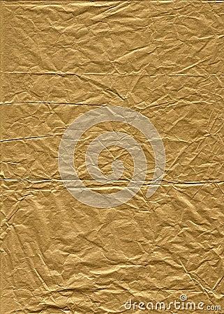 Wrinkled Gold Tissue Paper