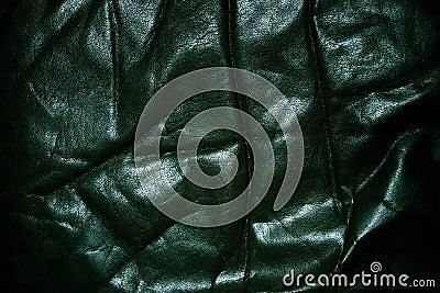 Wrinkled old black leather