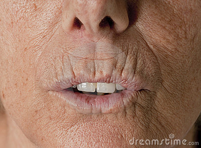 Wrinkle Lips Senior Wrinkles