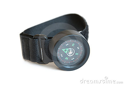 Wrist compass isolated