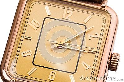 Wrist gold watch