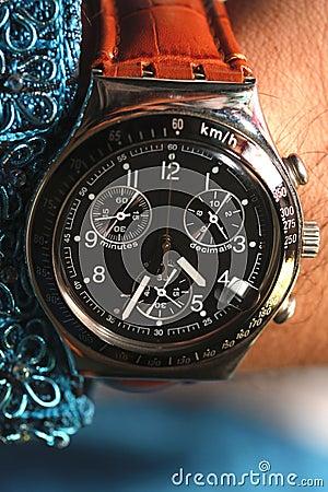 Wrist watch closeup