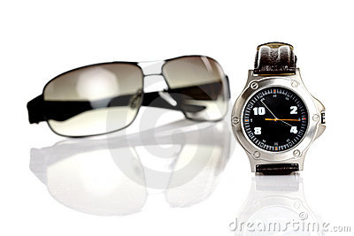 Wrist watch & sunglasses