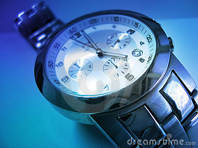 Wristwatch In Blue - Time Is Money