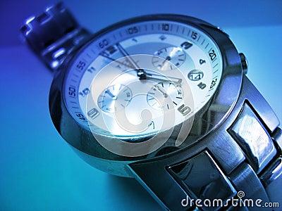 Wristwatch In Blue - Time Is Money