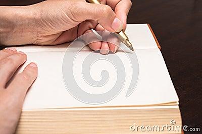 Write on book