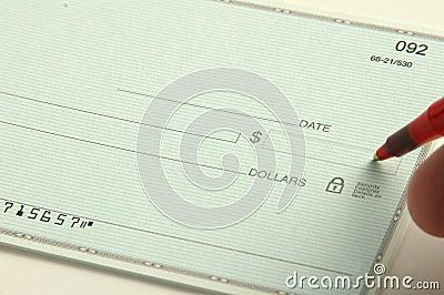 Write the check