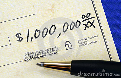 Write a check of one million dollars