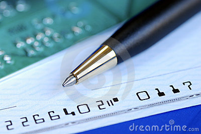 Write a check to pay the credit card bill