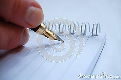Write on notebook
