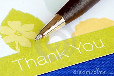 Write the thank you card