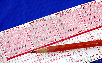 """Write the word """"Luck"""" on the lottery ticket"""