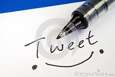 Write the word Tweet