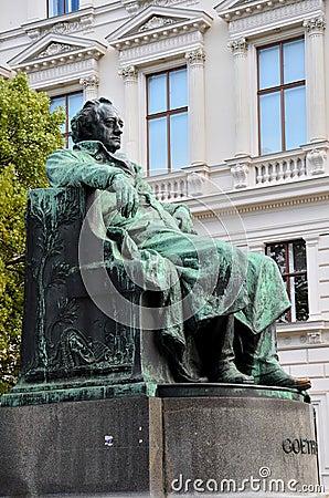 Writer Goethe statue Vienna Austria
