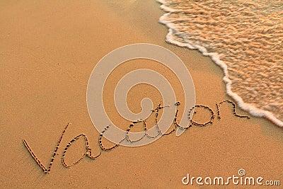 Writing on a beach