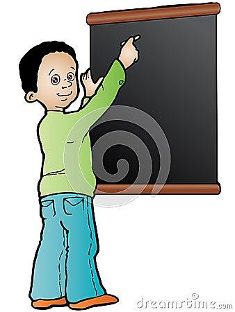 Writing in the black board