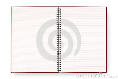 Blank Open Spiral Writing Book Or Notepad Lined Paper Isolated – Lined Blank Paper