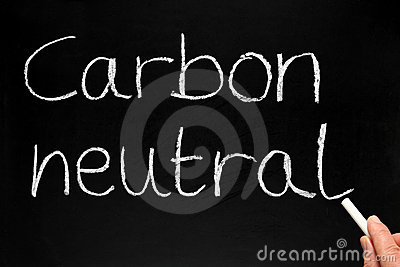 Writing Carbon neutral.