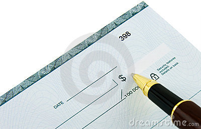 Writing Check Stock Photo - Image: 5985610